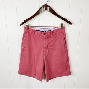 Southern Tide Skipjack Chino Shorts in Light Red